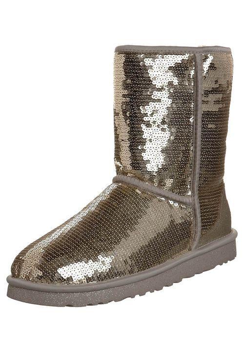 Goldfarbene UGG Boots im Glitzer-Look