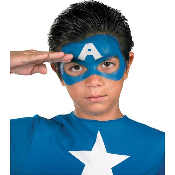 Captain america face paint for America s finest paint