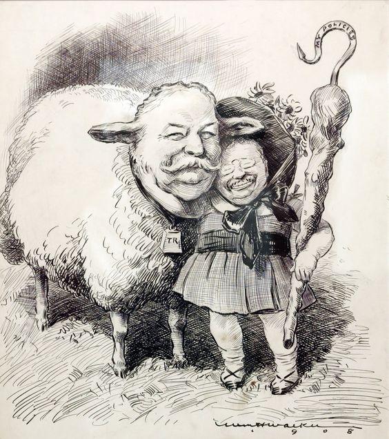 Teddy Roosevelt Political Cartoon