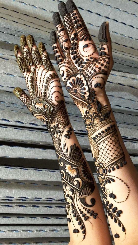 Delicate And New Henna Design Rajasthani Mehndi Designs