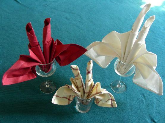 Serviette Napkin Folding, Candle Fan Fold Recipe Napkins, Napkin