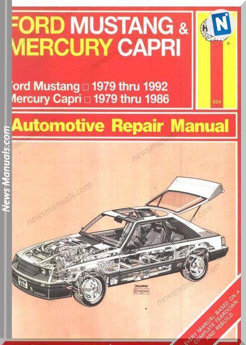 Ford Mustang 79 92 Capri 79 86 Workshop Manual Komatsu Mercury Capri Manual