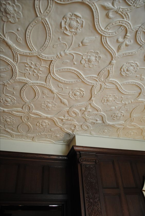 Plaster Ceiling Detail Another Tudor Pattern With Tudor