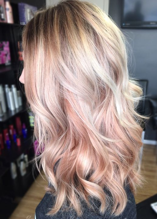 Pleasant Two Tone Platinum With The Rose Gold Hair Colors Under Layers Hairstyles For Men Maxibearus