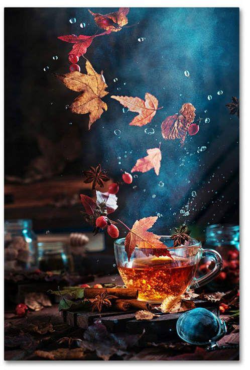 Trademark Global Dina Belenko 'Briar Tea With Autumn Swirl' Canvas Art - 32 x 22 x 2