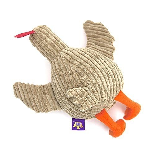 Chew King Premium Pet Squeaky Dog Toy Rubber Belly Turkey Small