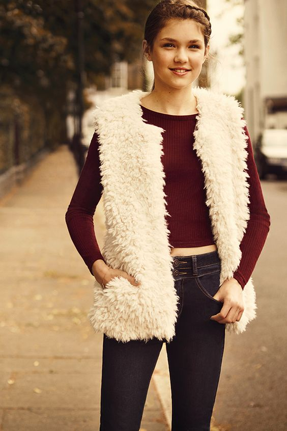 Stay warm this autumn in a faux fur gilet - great over tops, jumpers and jackets. #newlook
