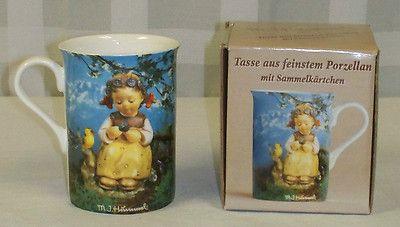 Vintage German M J Hummel Goebel Little Girl/ Singing Bird Coffee Cup & Box ebay listing starting $0.98