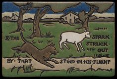 Saturday Evening Girls | Saturday Evening Girls - Dog & Sheep Tile. Painted & Glazed Pottery ...