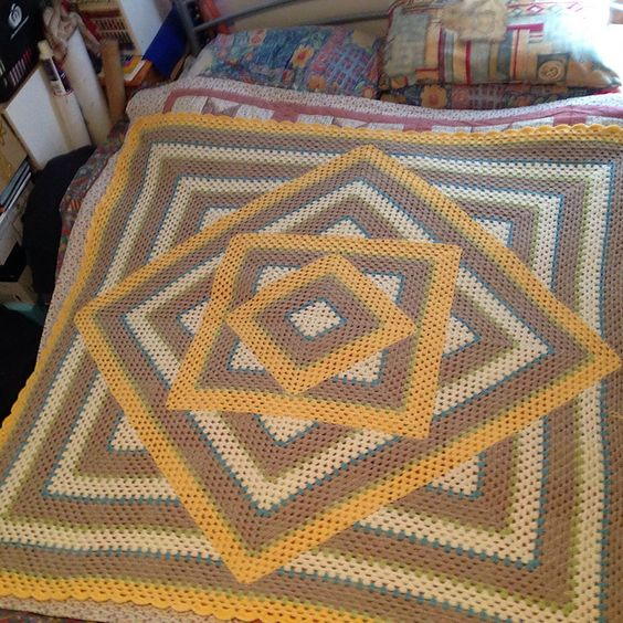 Ravelry: Project Gallery for Squared Diamond Granny Throw pattern by Chris Apao