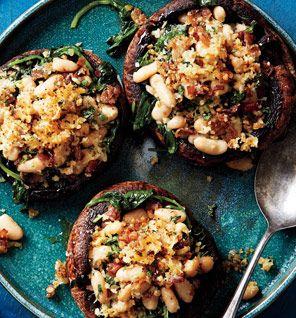 Portobello Mushrooms With White Beans and Prosciutto | Recipe ...