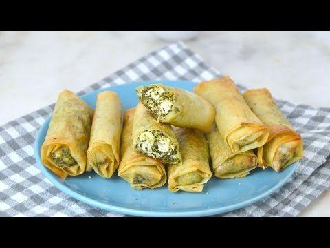Rollitos de espinacas y queso feta ¡Fáciles, rápidos y deliciosos! | Cuuking! Recetas de cocina