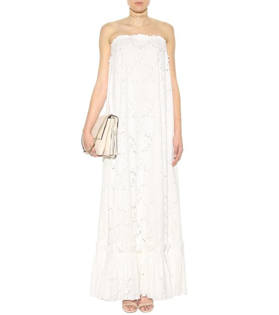 mytheresa.com - Floor-length lace dress - Cocktail - Dresses - Clothing - Luxury Fashion for Women / Designer clothing, shoes, bags