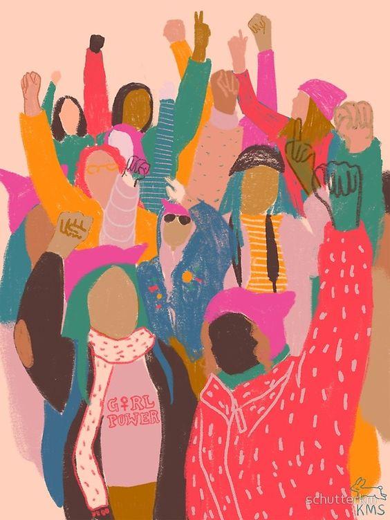 Una mirada expresiva sobre la marcha de las mujeres en Washington. ♀️ ♡ Regalo perfecto para una feminista que ama el arte ♡ • Millones de diseños originales hechos por artistas independientes.