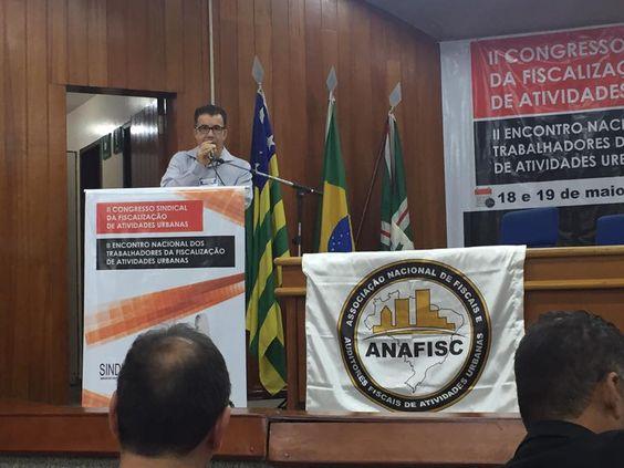 18/05/2017 - II Encontro Nacional - Luiz Dias da Costa, Diretor do Sindiffisc e mestre de cerimônias do evento