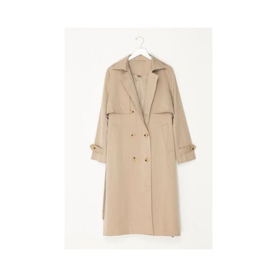 Classic Trench Coat ($259) ❤ liked on Polyvore featuring outerwear, coats, khaki, khaki trench coat, beige trench coat, beige coat, khaki coat and trench coat
