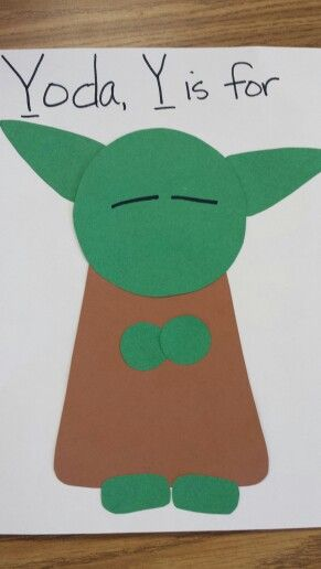 Yoda Y is for preschool ideas Pinterest