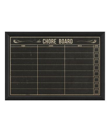 This Chore Board Framed Chalkboard is perfect! #zulilyfinds