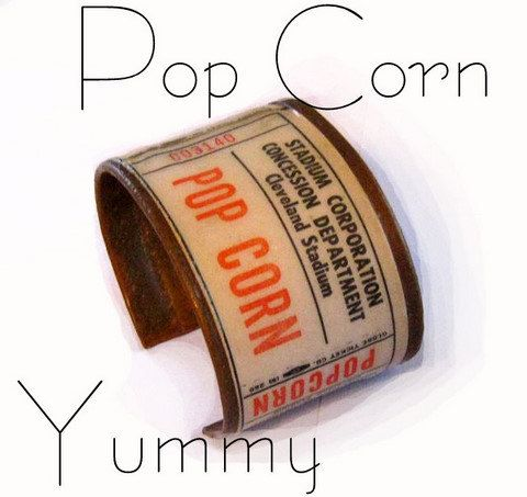POP CORN  Copper Handmade Bracelet by lizzybleu on Etsy, $30.00