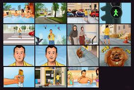 Image result for colourful storyboard examples