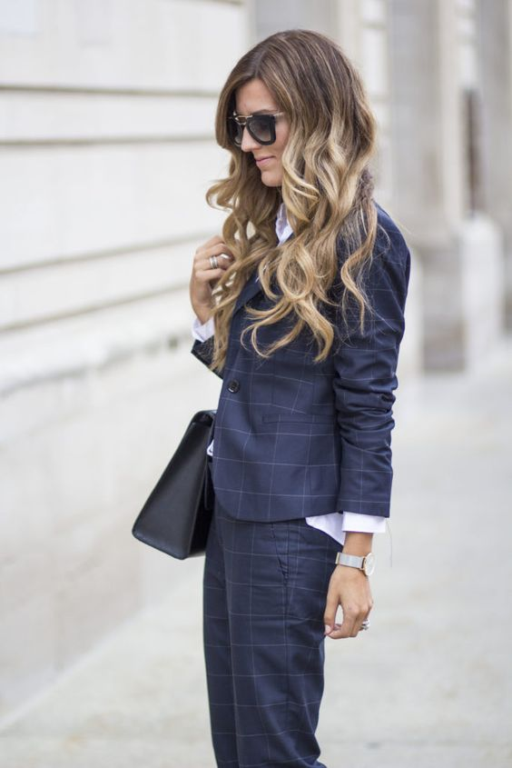 Keep your look classic like @brennamari by suiting up in our windowpane tailored suit | Banana Republic