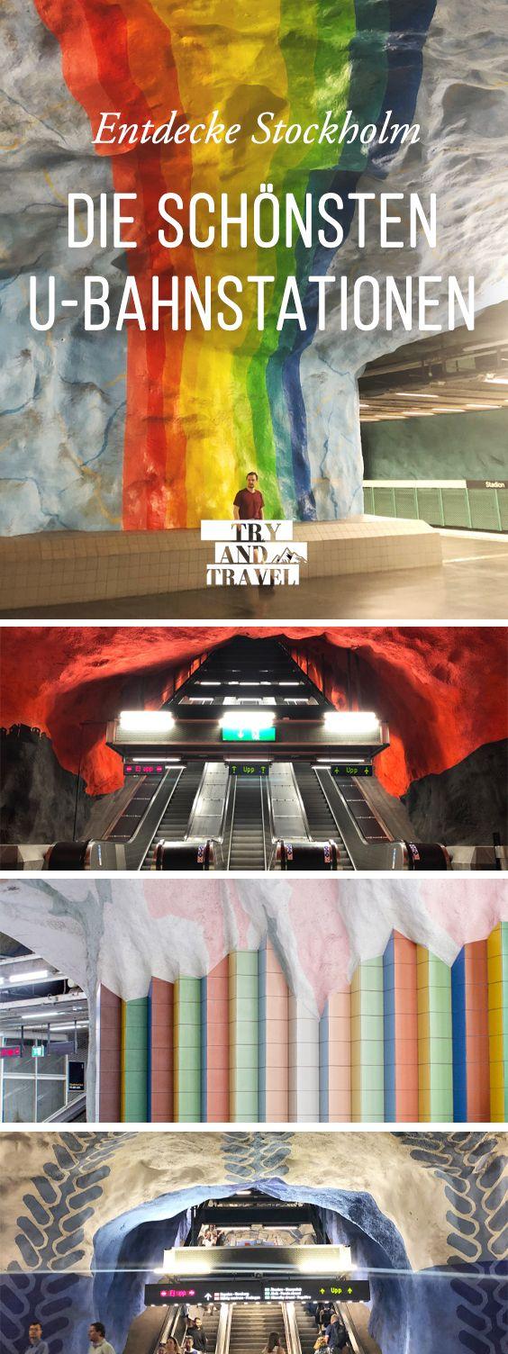 Die Tunnelbana: Kunst in der U-Bahn von Stockholm