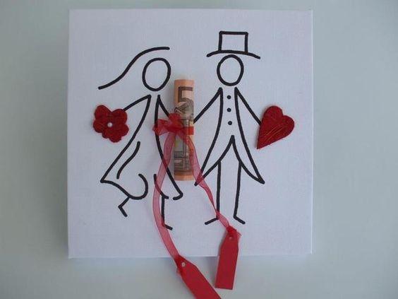 Mit diesem Keilrahmen schenkst du dem Brautpaar nicht nur Geld, sondern gleich ein schönes Andenken an die Hochzeit, dass das Paar sich  später aufhängen kann.  Mit dem Band knotest du deinen...