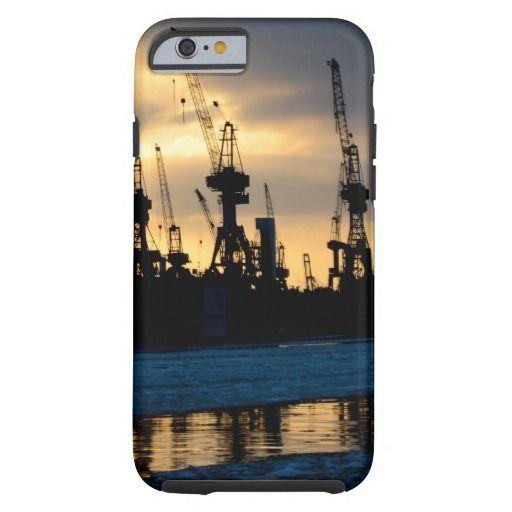 Hamburger Hafen Sonnenuntergang - Hamburg Tough iPhone 6 Handyhülle