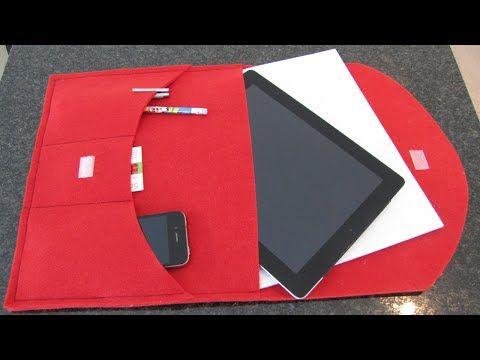 DIY: Pad Case Clutch selbst nähen - kleine Aktentasche nur 3 Nähte für Nähanfänger geeignet - YouTube
