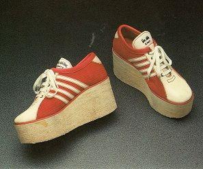 Fiorucci 1972 - Scarpe da tennis con zeppa - Da archivio Fiorucci