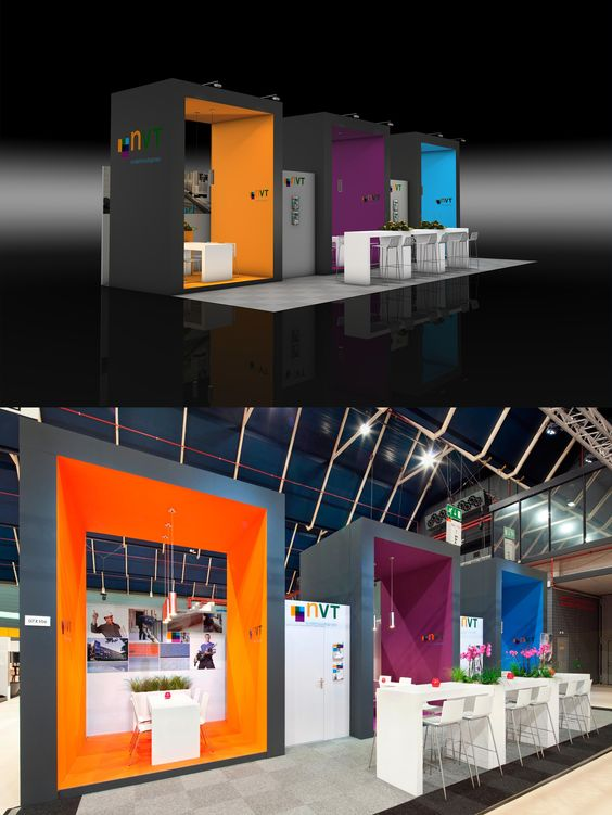 Exhibition stand design from The Inside stand building at Bouwbeurs  (Construction fair) at Jaarbeurs Utrecht, The Netherlands - 70 m2