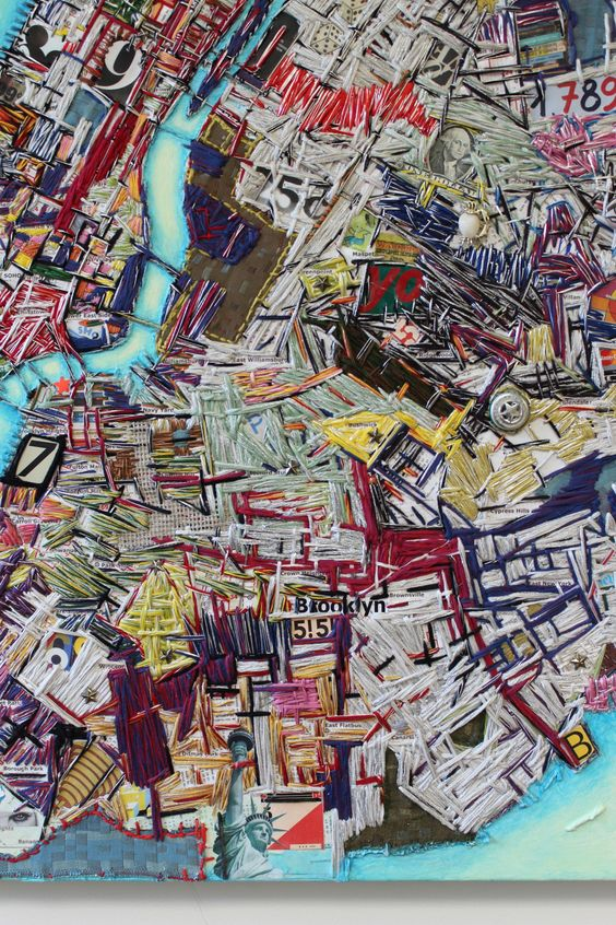 Ruben Marroquin — Now on view New York City Map by Ruben Marroquin...