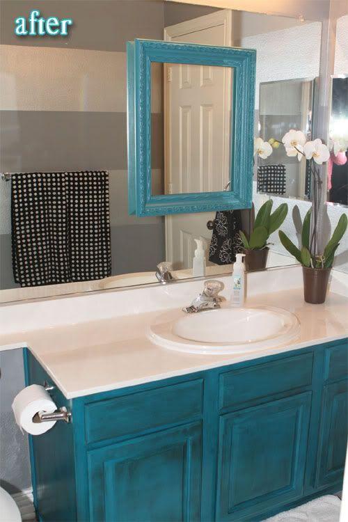 turquoise mirror frame