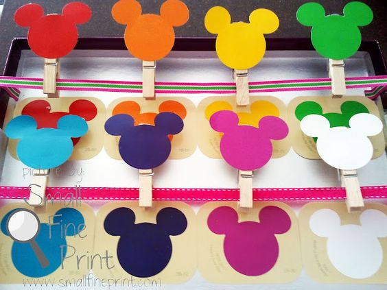 Toddler Disney Color Match Game