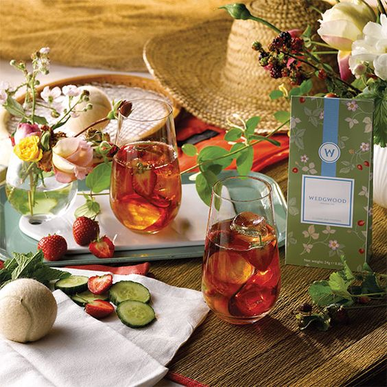 table setting images - warm colors