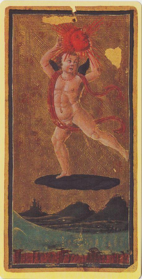 The Sun -- Pierpont Morgan Visconti Sforza Tarocchi Deck, Italy, Milan, ca. 1450: