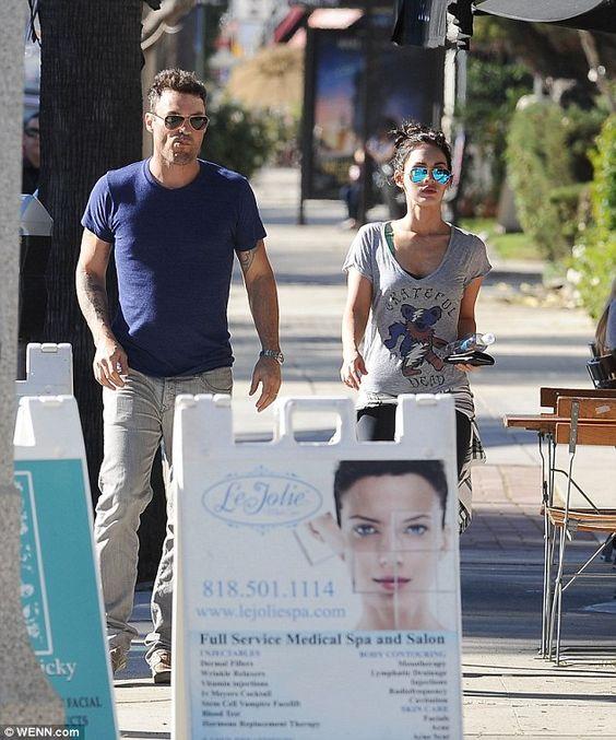 Megan Fox and Brian Austin Green dress down for casual LA lunch     Pinterest