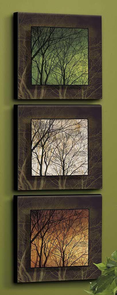 Tra gli alberi-Set / 3-Cream, Rust & Green