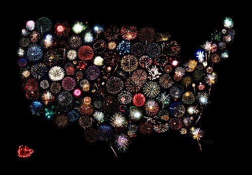 fireworks across america