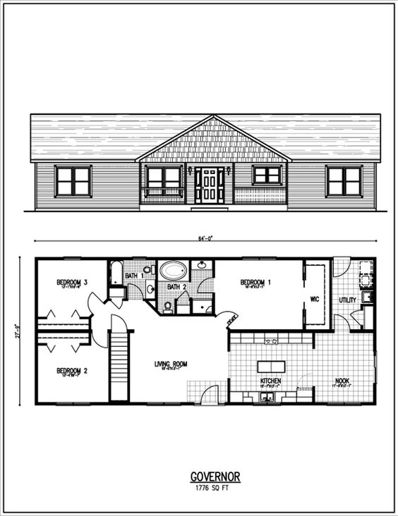 Home house plans and floors on pinterest Thompson house plans