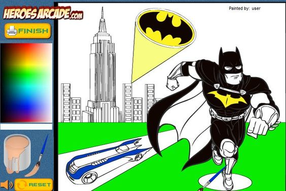 Batman Cartoon Coloring Game Online