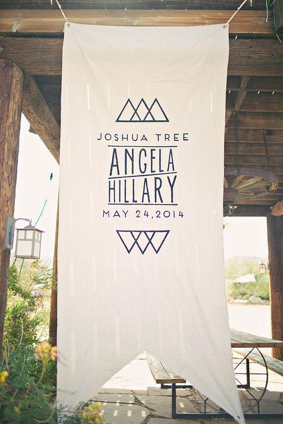 wedding banner // Joshua Tree wedding - 100 Layer Cake | wedding ...