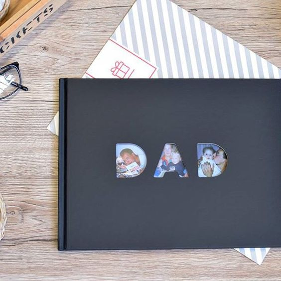 We've got gift ideas aplenty over on our Father's Day shop - including our top tips on how to create this awesome 'Dad' photo book. Click the link in our bio to check it out for yourself!  #FathersDay #giftinspiration #Dad #photobook #memories
