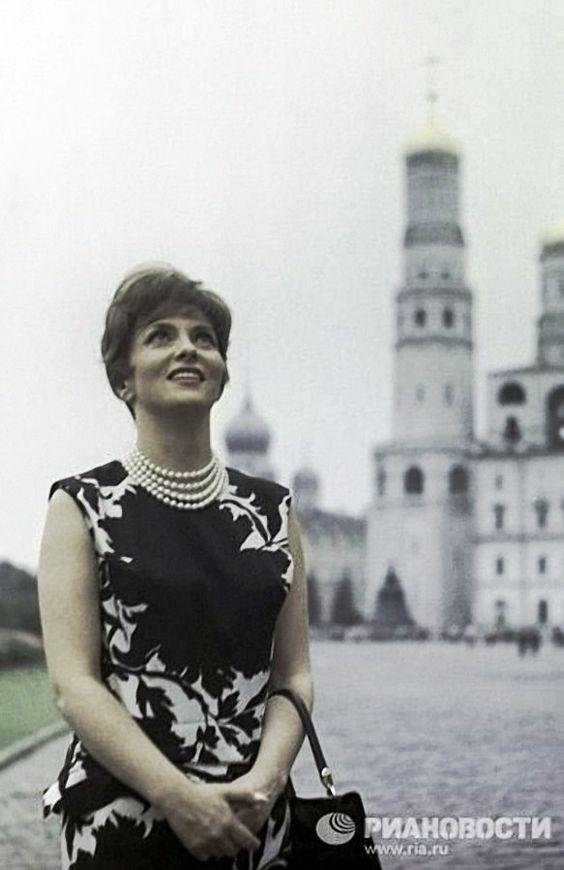 Gina Lollobrigida in Moscow. 1961