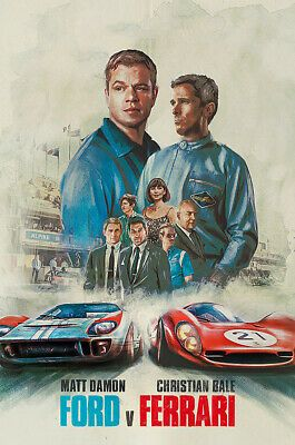 Details About Posters Usa Ford V Ferrari Movie Poster Glossy Finish Prm589 In 2020 Ferrari Poster Ferrari Ford
