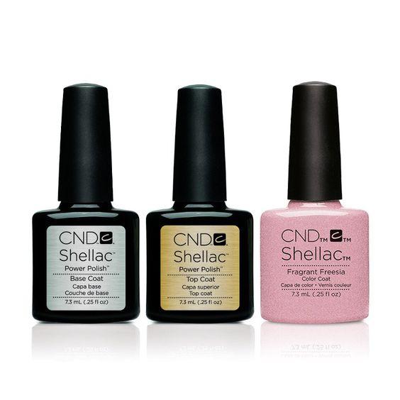 CND - Shellac Combo - Base, Top & Fragrant Freesia