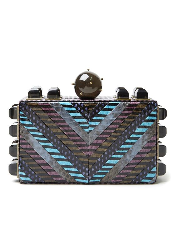 Tonya Hawkes Embellished Box Clutch - Kirna Zabête - Farfetch.com