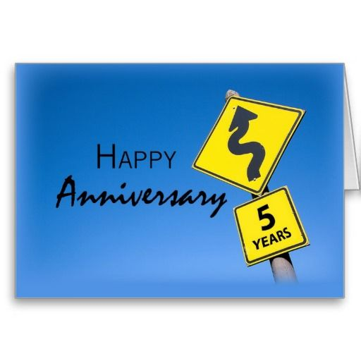 5 year work anniversary card