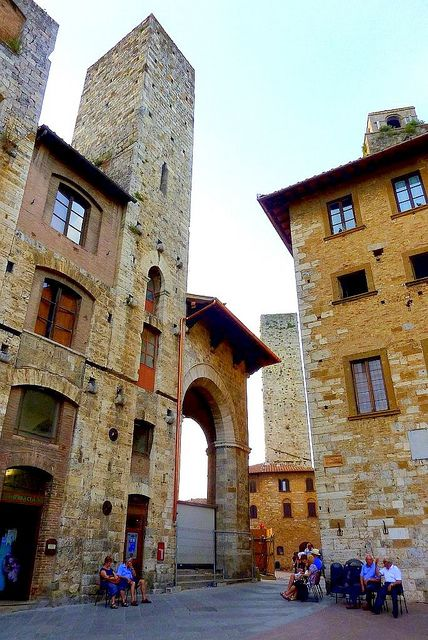 Siesta, San Gimignano, province of Siena , Tuscany region, Italy---Love San Gimignano. Particularly when the crowds thin.