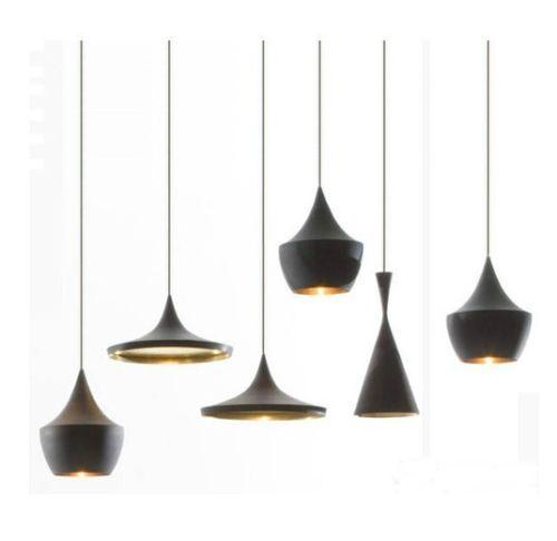 Tom-Dixon-Tall-Fat-Wide-Black-Beat-Light-hanger-Lamp-Kroonluchter-3-lampen- via Ebay.com